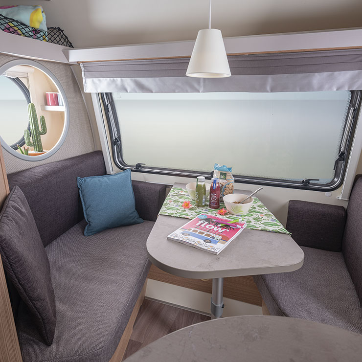 T@B 400 – the Perfect Caravan for Three with Bathroom